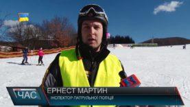 Поліцейські разом із шкільним патрулем каталися на лижах на Свалявщині/